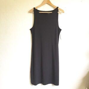 Chelsea & Theodore Black Cotton Tank Dress L